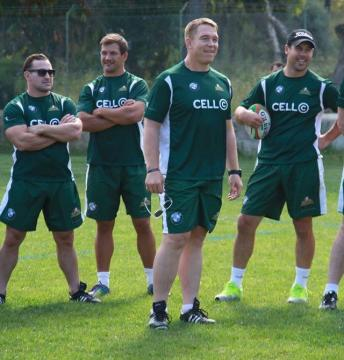 Springbok Legends visit St. Julian's
